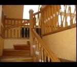 комбинированная лестница с каменными вставками