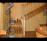 лестница в интерьере - цвет натуральный дуб
